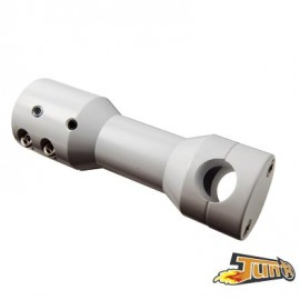 POTENCE SCOOTER TUN'R ADAPT. BOOSTER/BW'S/SLIDER/STUNT DROITE BLANC (P/GUIDON D.22MM)