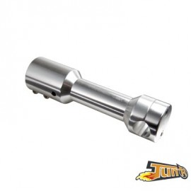 POTENCE SCOOTER TUN'R ADAPT. NITRO/AEROX/MACH G/JOG R/OVETTO/NEOS ARGENT (P/GUIDON D.22MM)