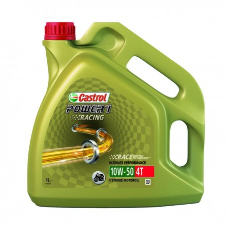 huile moto castrol power1 racing synthese 4t 10w50 4l motomike34. Black Bedroom Furniture Sets. Home Design Ideas