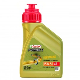 HUILE MOTO CASTROL POWER 1 4T 15W50 500ml